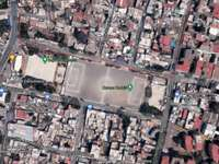 XOCUITL FIELD AERIAL VIEW - Aerial view of the Xóchitl field, La Lonja neighborhood, Tlalpan Mayor's Office