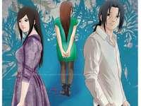 Itachi och Izumi - Itachi delas av två älskare