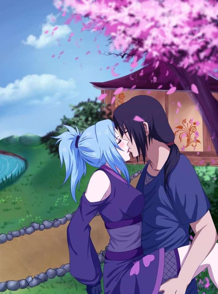 Itachi i Miku - Itachi i Miku całują się (6×9)
