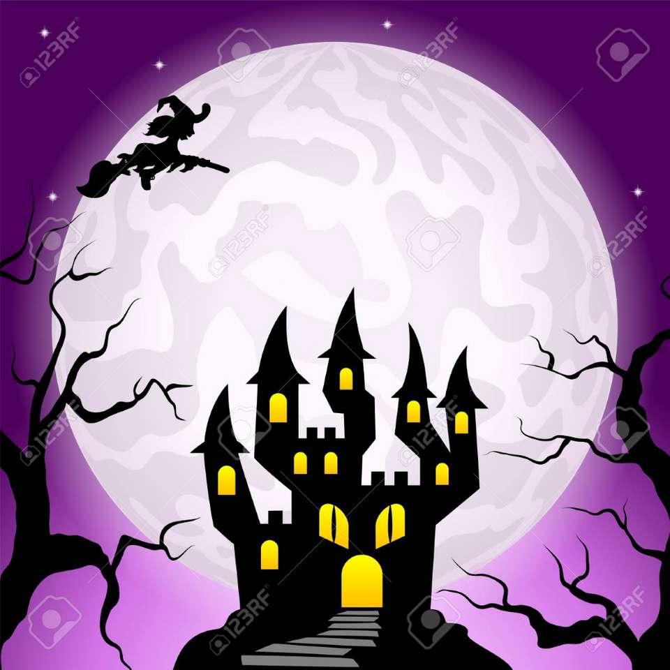HALLOWEEN ÉJSZAKA - A boszorkányok sötét éjszakájának képe (3×3)