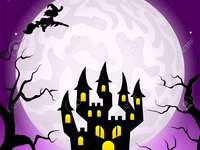 NUIT D'HALLOWEEN - Image d'une nuit noire de sorcières.