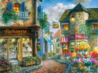 alley in flowers - To the patisserie. M ........................ Patisserie, expensive, treats.