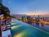 πανόραμα από τη βεράντα του ξενοδοχείου στη Σιγκαπούρη - Μ ........................