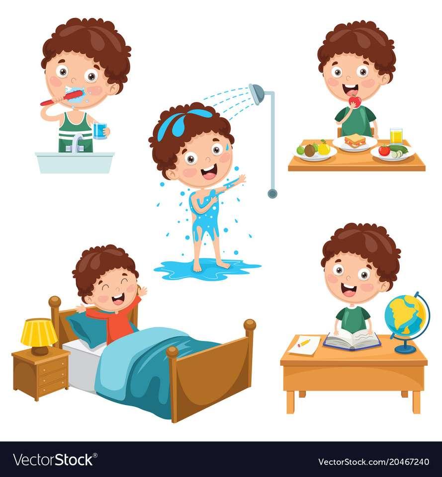 Daily routine activities aboutorabi teacher (3×4)