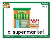 Supermarkt - supermarkt flashcard