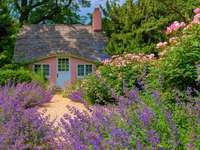 Cottage In The Garden - House In The Garden, Flowers