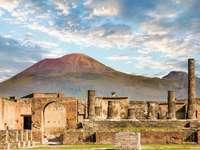 Pompeii en Vesuvius in Campanië, Italië