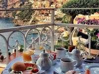 Positano-regionen i Campania Italien