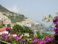 Амалфийско крайбрежие на Кампания Италия - Амалфийско крайбрежие на Кампания Италия