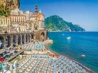 Amalfikustregionen i Kampanien Italien - Amalfikustregionen i Kampanien Italien