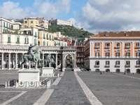Nápoles Piazza Plebiscito Região Campânia Itália - Nápoles Piazza Plebiscito Região Campânia Itália