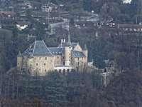 Hrad Uriage - Château d'Uriage, Isère, Francie.