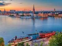 Riddarfjarden-öböl - Svédország - m ....................