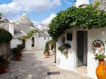 Alberobello Traditionella trullihus i Puglia