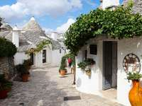 Alberobello Traditionele trulli-huizen in Puglia