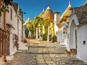 Alberobello Maisons trulli traditionnelles dans les Pouilles