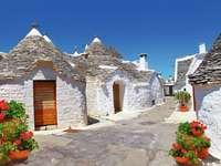 Alberobello Traditionele trulli-huizen in Puglia