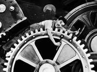 TEMPOS MODERNOS - Um quebra-cabeça de um quadro do filme Tempos Modernos de Charles Chaplin