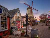 Vereinigte Staaten, Häuser, Windmühle, Kalifornien - m .....................