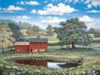 Agrarisch landschap. - Landschap puzzel.