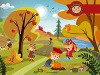 Toamna în parc - Aranjați imaginea și veți recunoaște sezonul