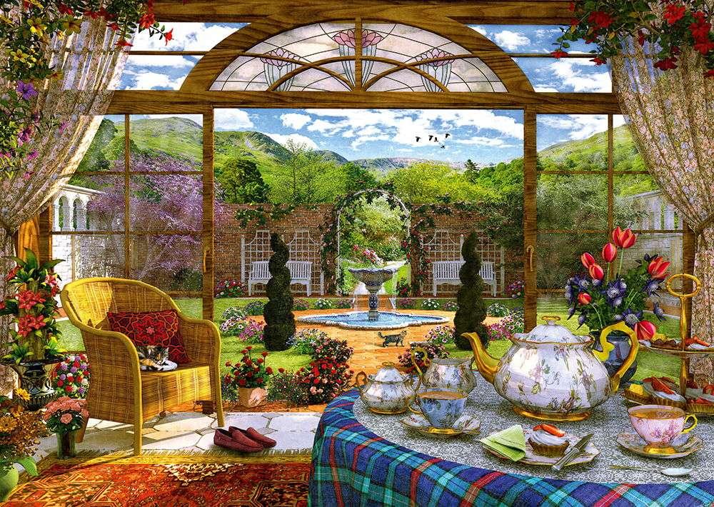 ζήστε άνετα - Σπίτι, εσωτερικό, έπιπλα, πιάτα, πορσελάνη, φύση (12×9)