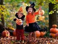 Halloween, gyerekek és tök
