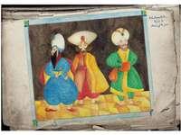 ilustração - ilustração para o conto de fadas três reis
