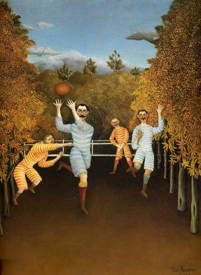 Soccer Players, 1908 - Henri Rousseau, naive painter (10×15)