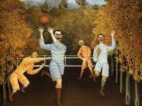 Soccer Players, 1908 - Henri Rousseau, naive painter