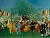Centennial of independence 1892 - Henri Rousseau, naive painting
