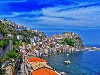 Tengerparti város, Calabria, Olaszország
