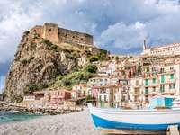 Πόλη Scilla στην Καλαβρία Ιταλία - Πόλη Scilla στην Καλαβρία Ιταλία