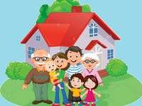 семейството - Съединете парчетата, за да откриете фигурата.