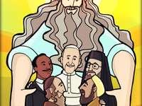 Interreligious - image representing inter-religious union in the world
