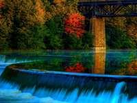 autumn- waterfall - m ....................