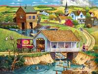плуване в реката в града - м ....................