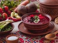 red borscht in Ukrainian - m ......................
