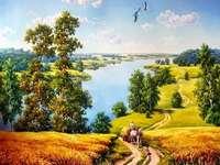 << Sommer >> - Landschaftspuzzle.
