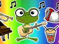 Sapo Instrumental - Sapo tocando instrumentos- Paródia.