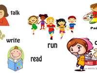 verbos ingleses - verbos trabalhados na aula