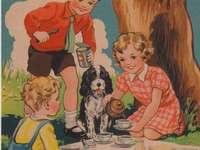 Dětský piknik se psem - Dětský piknik se psem