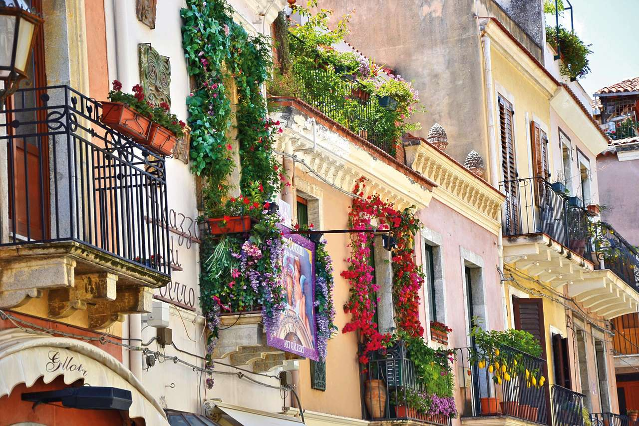 Husutsikt på Sicilien