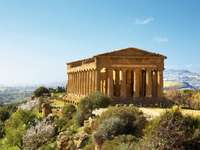 Agrigento völgyében a templomok Szicília