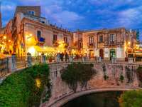 Syrakus Stadt auf Sizilien
