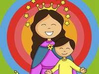 MARY HELP - PRZECIĄGNIJ KAWY I ZŁÓŻ PUZZLE DLA MAMY MARÍI.