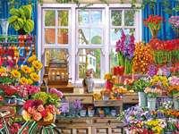 obraz- kwiaciarnia - m.....................