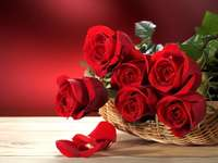 Red roses - Red Roses, Basket