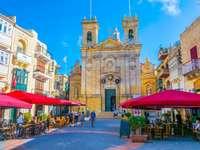 Gozo Cathedral Piazza Restaurace Malta - Gozo Cathedral Piazza Restaurace Malta