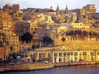 Vista della città di La Valletta su Malta